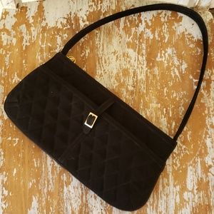 VERA BRADLEY quilted black evening cocktail purse